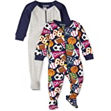 The Children's Place Baby and Toddler Boys Sports Snug Fit Cotton One Piece Pajamas 2-Pack