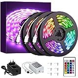 Onforu 50ft RGB LED Strip Lights Kit, 15m Flexible Color Changing Lights Strip, 450 Units 5050 RGB LED Rope Lights with 24V P