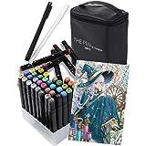 THE PEN for Designer マーカーペン 40色 セット ペンケース スタンド ホワイト ライナーペン 付き イラストマーカー アルコールマーカー コミック用マーカー
