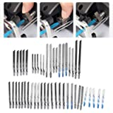 Jig Saw Blades Set, TShank Jig Saw Blades 48Pcs Jig Saw Blades Set T8209 Shank Metal Universal Fine Mddle Tooth Kit Cutting T