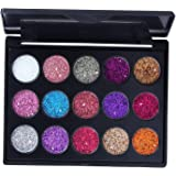 F Fityle 15 Colors Eyeshadow Palettes Makeup Kit Shimmer Glitter Eye Shadow Powder Palette - 01 Color