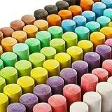 128 Pack 16 Colors Jumbo Sidewalk Chalk Set, Washable Art Play For Kid and Adult, Paint on School Classroom Chalkboard, Kitch