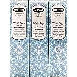 お香、アロマインセンスNitiraj(ニティラジ)White Sage(ホワイトセージ)3箱セット (30本/1箱10本入り)天然素材使用