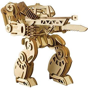 Amazon 装甲ロボット 3d立体パズル 木製ジグソ レーザー彫刻 Diyアセンブリ建設モデル 木製ハンド