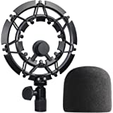 YOUSHARES Shockmount with Foam Windscreen for Blue Yeti Pro and Blue Yeti Pro Microphone, Alloy Shock Mount Reduces Vibration