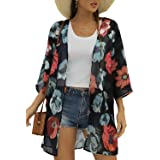 Chicgal Long Sleeve Loose Button Trim Blouse Tunic Tops for Women