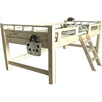 木製 ロフトベッド ロフトベッド すのこベット シングルベッド フレーム ピーター ナチュラル
