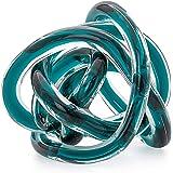 Torre & Tagus 901747A Orbit Glass Decor Ball, Small, Teal