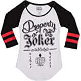 DC Comics Suicide Squad Property of Joker Juniors Raglan T-Shirt