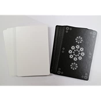 XTAROT 片面白紙カード56枚 ゲーム開発用 【片面ニス】 (黒)