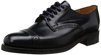 Military Punched Cap Derby Shoe 9639: Navy