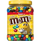 M&M'S Peanut Chocolate Candy Pantry Size Plastic Jar (62 oz…