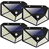 LED Solar Lights Outdoor,100LED Solar Motion Sensor Security Lights,Waterproof Solar Outdoor Wall Light for Gate,Yard,Garage