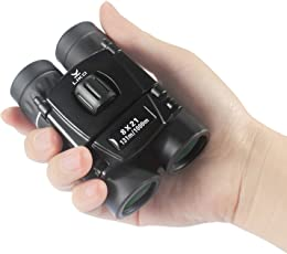 Liko 双眼鏡 8倍 8x21 防水 コンサート 観劇用 オペラグラス ミニ 軽量 携帯便利 折り畳み コンパクト 双眼鏡 高倍率 アウトドア 遠足 旅行 登山 スポーツ観戦 望眼鏡 収納ケース付き 6ヶ月品質保証