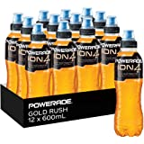 Powerade ION4 Gold Rush Sports Drink, 12 x 600 ml