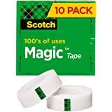 Scotch Magic Tape with Dispenser, Matte Finish, Cuts Cleanly, 1/2 x 800 Inches (810P10K)