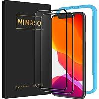 【ガイド枠付き】 【2枚セット】 Nimaso iPhone 11 / iPhone XR 用 全面保護フィルム 強化ガ…