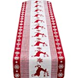 35x170cm Fashion Elegant Christmas Linen Table Runner Tablecloth Decorations for Home Hotel Party Festive Carnival Style B