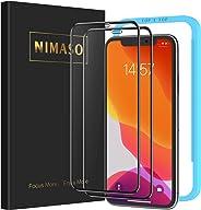 【ガイド枠付き】 【2枚セット】 Nimaso iPhone 11 / iPhone XR 用 全面保護フィルム 強化ガラス 【フルカバー】保護フィルム ( 6.1 インチ iPhone11 / iPhoneXR 用 フィルム )