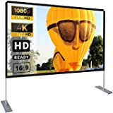 Portable Projector Screen with Stand 100 inch 16:9 HD 4K Outdoor Indoor Projection Screen for Home Theater 3D Fast-Folding Pr