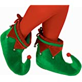 Amscan Elf Adult Size Shoes with Bells, Multicolour