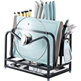 MAXCOOK Stainless Steel Cutting Board Rack, Kitchen Cookware Storage Rack Holder for Chopping Board, Chopsticks, Knife and Po