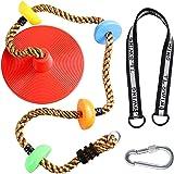 クライミングロープ ブランコ スイング リング付き ロックカラビナ ディスク 子供クライミング用 おもちゃ ロープ はし…