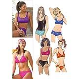 Kwik Sew K3239 Swimsuits Sewing Pattern, Size XS-S-M-L-XL