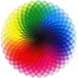 CYBERNOVA 1000 Pcs Round Jigsaw Puzzles Rainbow Palette Intellectual Game for Adults and Kids