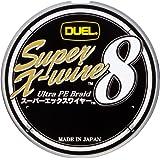 DUEL(デュエル) PEライン スーパーエックスワイヤー8 (Super X-wire 8) 0.6号/0.8号/1.0号/1.2号/1.5号/2.0号/2.5号/3.0号 1.0m×5色 ホワイトマーキング