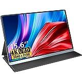 モバイルモニター 4K 15.6インチ sRGB100%色域 MISEDI 3840*2160 UHD モバイルディスプレイ USB Type-C*2/HD付 PSE認証済み 3年保証付
