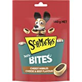 Schmackos Tasty Bites Cheese and Beef Dog Treats, 6 x 140g, Puppy/Adult/Senior, Small/Medium/Large