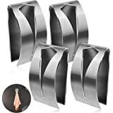 4 Pieces Self Adhesive Towel Hook Holder Grabber, Stainless Steel Kitchen Dish Towel Hook Wall Mount Non-Drilling Towel Hange