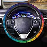 AFPANQZ Tie Dye Car Steering Wheel Covers Breathable Sweat Absorption Comfort Grip Stretch-on Fabric Steering Wheel Protector