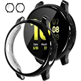 Tensea Compatible with Galaxy Watch Active2 Case, 2 Packs Soft TPU Bumper Full Around Screen Protector Cover for Samsung Gala
