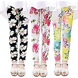 Ehdching 2 Pack Kids Child Girls Cutie Printing Flower Classic Leggings Girls Pants
