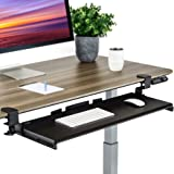 Seville Classics Airlift Ergonomic Desk Keyboard and Mouse Tray Computer Table Slide-Out Platform Drawer For Typing Workstati
