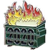 LoneFox 2020 Green Dumpster Fire Hard Enamel Pin Badge Brooch