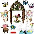 BangBangDa MiniatureFairy Garden Decorations Supplier – Fairy Garden Accessories Kit for Trellis Arbor Arch Gate for Indoor
