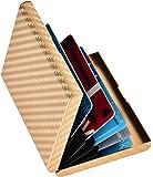Kinzd® 薄型カードケース RFID識別 防磁ステンレス クレジットカードケース 6枚収納タイプ 持ち運びに便利 男…