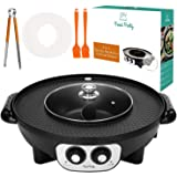 Food Party 2 in1 Electric Smokeless Grill and Hot Pot