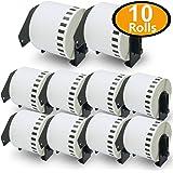 10巻セット ラベル (62mm x 30.48m) ブラザー工業 Brother 互換 長尺紙テープ大 DK-2205 ラベルプリンター P-Touch QL