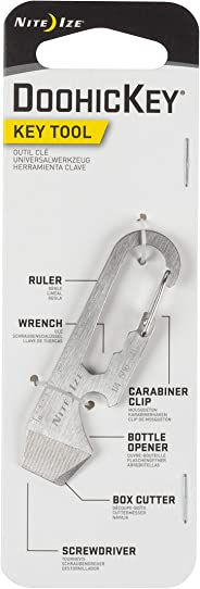 Nite Ize DoohicKey Key Tool Keychain Multi-Tool, Stainless, 1-Pack