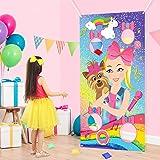 PANTIDE JoJo Toss Games with 4 Bean Bags, JoJo Indoor Outdoor Party Games, JoJo Themed Birthday Party Decoration Supplies, Gr