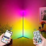 Corner Floor Lamp - HaiZR Smart WiFi RGB Colorful LED Floor Lamps Works with Amazon Alexa & Google Assistant, Super Bright Ad