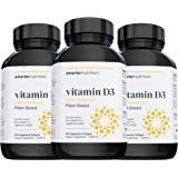 Plant-Based Vitamin D3 with Vegan K2 Complex in a Vegetarian Softgel | Includes 5,000 IU of Vitamin D for Supporting Complete