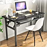 "Folding Table Small Computer Desk YJHome 31.5"" X 15.75"" X 29"" Student Study Writing Desk Latop Foldable Desk Black Portable N"
