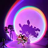 Sunset Projector, LED Rainbow Projection Light USB Sunset Lamp Projector Romantic Visual LED Light with 16 Colors Modern Floo