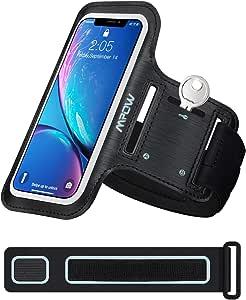 ランニングアームバンド スポーツ ランニング スマホ アームバンド MPOW欧米で大評価、今日本で初売り、タッチ操作OK 防水防汗 延長ベルト付き 軽量 小物収納 調節可能 夜間反射 iPhone 11 Pro/11/XR/Xs /8/7/6S/6 、Xperia、Samsung、Androidなど 6.1インチまでのスマホに対応