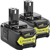 5000mAh Ryobi 18V Lithium Battery Replacement for Ryobi 18-Volt 18L50 ONE+ P104 P105 P102 P103 P107 P108 P109 Tool (18V 5000m
